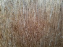Closeup of wooden wall paneling outdoors with natural weathering stock image