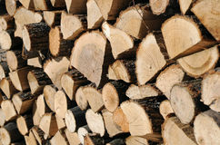 Closeup Woodpile Stock Photos