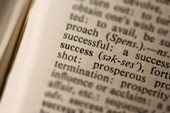 Closeup of the word success Stock Image