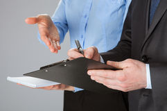 Closeup of working business team Stock Image