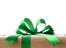 Closeup of a Wrapped Christmas Present Stock Image