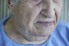 Closeup face of a senior person Royalty Free Stock Photography