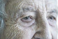 Closeup face of a senior woman Stock Image