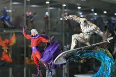Free Closeup Xmen On Surfboard And Magneto Figure Model On Display At The M Cafe Royalty Free Stock Photo - 137795865