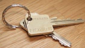 Closeup of Yale style keys
