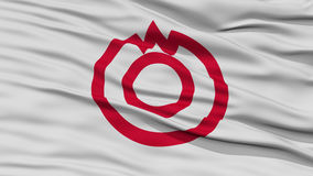 Closeup of Yamaguchi Flag, Capital of Japan Prefecture Stock Photography