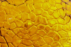 Closeup yellow glass texture . Stock Images