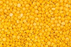 Closeup yellow lentils texture Royalty Free Stock Photo