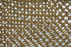 Closeup of yellow sunshade netting royalty free stock photos