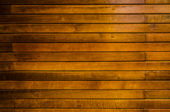 Closeup yellow timber wall background Royalty Free Stock Photo