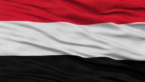Closeup Yemen Flag Royalty Free Stock Photography
