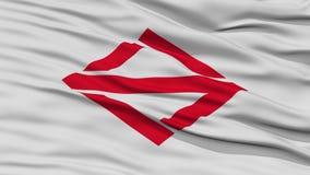 Closeup of Yokohama Flag, Capital of Japan Prefecture Stock Images