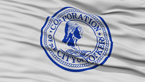 Closeup of Yonkers City Flag Royalty Free Stock Photos