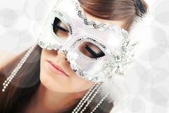 Closeup of young beautiful woman Royalty Free Stock Images