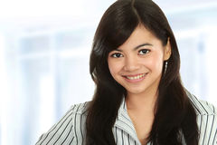 Closeup of young business woman Stock Photos