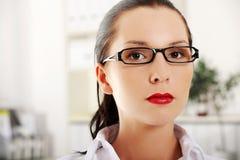 Closeup of young business woman Stock Photos
