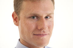 Closeup of young businessman. Portrait of confident young businessman Stock Photos