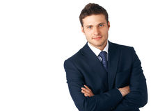 Closeup Of Young Businessman. stock photos