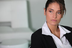 Closeup of young businesswoman Stock Photography