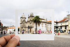Carmo and Carmelitas churches in Porto, Portugal royalty free stock image