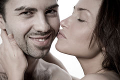 Closeup young couple Royalty Free Stock Images