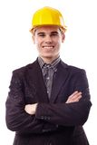Closeup of young engineer Stock Photo
