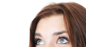 Closeup of young female's eyes Stock Photo