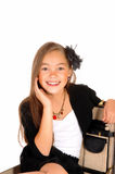 Closeup of young girl. Royalty Free Stock Image