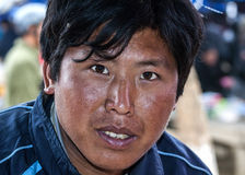 Closeup of a young Hmong man. Stock Photography
