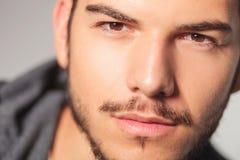 Closeup of a young man's face Royalty Free Stock Photos