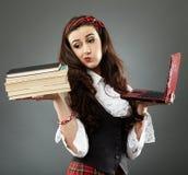 Closeup of young schoolgirl Stock Image