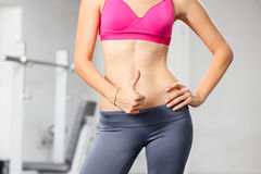 Closeup of young slim woman royalty free stock photography