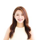 Closeup young smiling asian woman Royalty Free Stock Photo