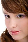 Closeup of a young woman face Royalty Free Stock Image