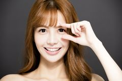 young woman face with beautiful eyes Royalty Free Stock Image