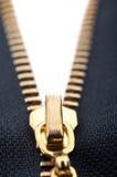 Closeup of zipper Stock Photo