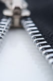Closeup of zipper Stock Image
