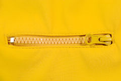 Closeup of a zipper Royalty Free Stock Photo