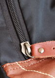 Closeup of zipper. Stock Photo