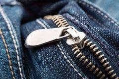 Closeup of zipper Royalty Free Stock Photos