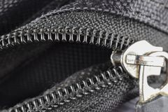 Closeup of a zipper stock photo