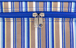 Closeup of zipper on fabric Royalty Free Stock Image