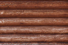 Closeupbakgrund från väggarna av träblockhuset Fotografering för Bildbyråer