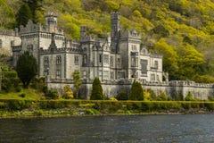 Closeupbild av den Kylemore abbotskloster, Irland Fotografering för Bildbyråer