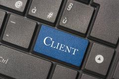 Closeupbild av klientknappen av tangentbordet av en modern dator royaltyfri bild
