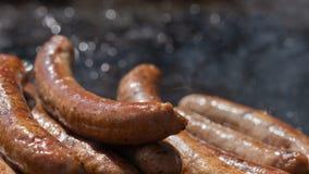 Closeupbild av lagade mat korvar royaltyfri fotografi