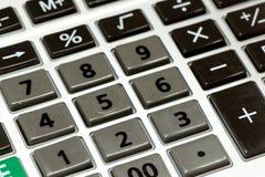 Closeupbild av räknemaskintangentbordet Arkivbilder