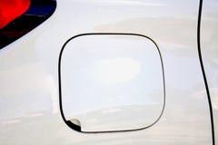 Closeupblick av bilbränslebehållaren Fotografering för Bildbyråer