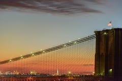 CloseupBrooklyn bro i New York City royaltyfria foton
