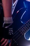 Closeupdetalj av rockstar pråliga juvlar Royaltyfri Fotografi